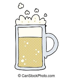cartoon tankard of beer - freehand drawn cartoon tankard of...