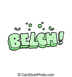 cartoon belch text - freehand drawn cartoon belch text