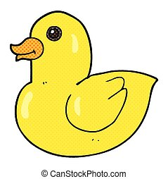 cartoon rubber duck - freehand drawn cartoon rubber duck