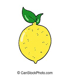 cartoon lemon - freehand drawn cartoon lemon