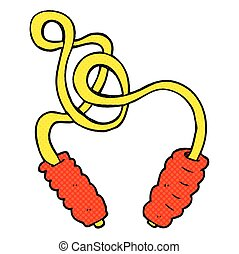 cartoon skipping rope - freehand drawn cartoon skipping rope