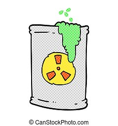 cartoon radioactive waste - freehand drawn cartoon...