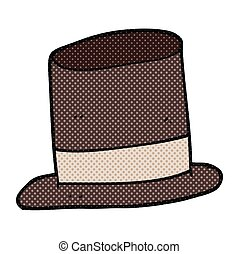cartoon top hat - freehand drawn cartoon top hat