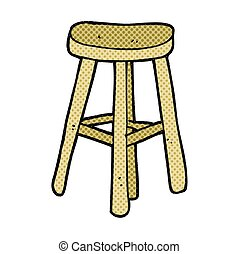 cartoon stool - freehand drawn cartoon stool