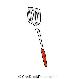 cartoon spatula - freehand drawn cartoon spatula