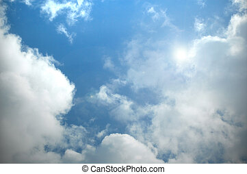 cloudscape - beautiful summer sky