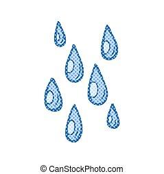 cartoon raindrops - freehand drawn cartoon raindrops
