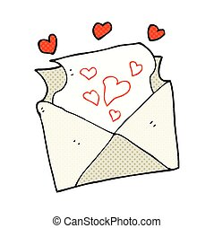 cartoon love letter - freehand drawn cartoon love letter
