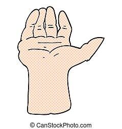 cartoon open hand - freehand drawn cartoon open hand