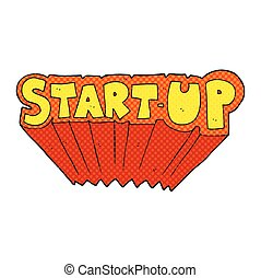 cartoon startup symbol - freehand drawn cartoon startup...