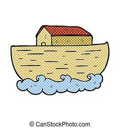 cartoon noahs ark - freehand drawn cartoon noahs ark