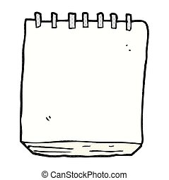 cartoon note pad - freehand drawn cartoon note pad