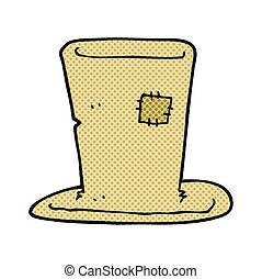 cartoon tramp top hat - freehand drawn cartoon tramp top hat