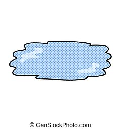 cartoon puddle - freehand drawn cartoon puddle
