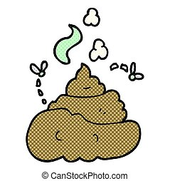 cartoon gross poop - freehand drawn cartoon gross poop