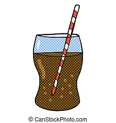 cartoon fizzy drink - freehand drawn cartoon fizzy drink