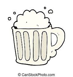cartoon beer - freehand drawn cartoon beer