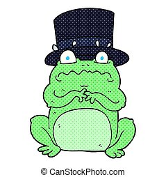 cartoon wealthy toad - freehand drawn cartoon wealthy toad