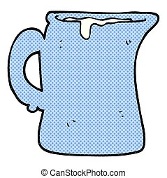 cartoon milk jug - freehand drawn cartoon milk jug