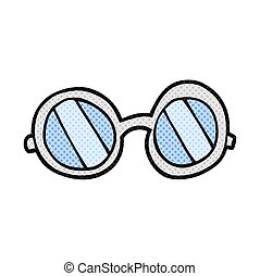 cartoon glasses - freehand drawn cartoon glasses