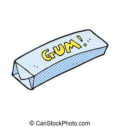 cartoon chewing gum - freehand drawn cartoon chewing gum
