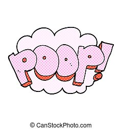 cartoon poop text - freehand drawn cartoon poop text