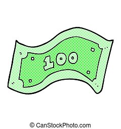 cartoon 100 dollar bill - freehand drawn cartoon 100 dollar...