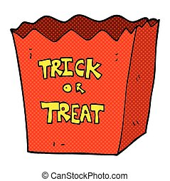 cartoon trick or treat bag - freehand drawn cartoon trick or...