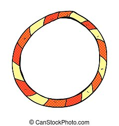 cartoon hula hoop - freehand drawn cartoon hula hoop