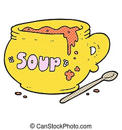 cartoon bowl of soup