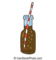 cartoon fizzy drink bottle - freehand drawn cartoon fizzy...