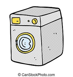 cartoon washing machine - freehand drawn cartoon washing...