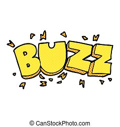 cartoon buzz symbol - freehand drawn cartoon buzz symbol