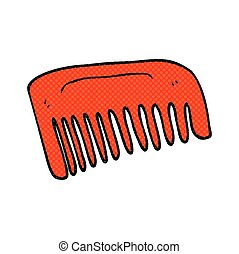 cartoon comb - freehand drawn cartoon comb