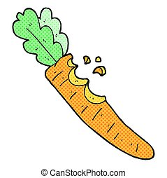 cartoon bitten carrot - freehand drawn cartoon bitten carrot