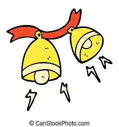 cartoon jingle bells - freehand drawn cartoon jingle bells