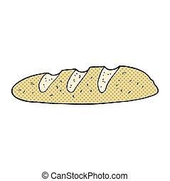 cartoon loaf of bread - freehand drawn cartoon loaf of bread