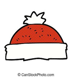 cartoon winter hat - freehand drawn cartoon winter hat