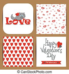 Card with cat for Valentine's Day