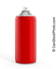 Red spray paint can