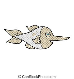 comic book style cartoon swordfish