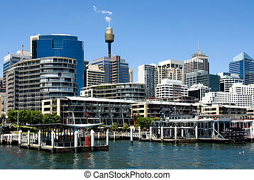 Darling Harbour Scene - A harbour scene, Darling Harbour,...