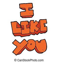 I like you cartoon symbol