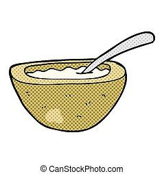 cartoon porridge - freehand drawn cartoon porridge