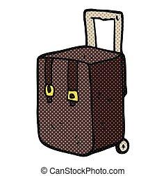 cartoon luggage - freehand drawn cartoon luggage