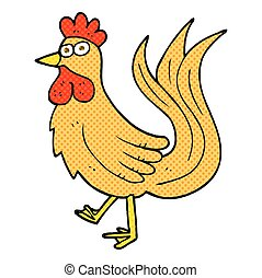 cartoon cock - freehand drawn cartoon cock