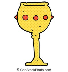 cartoon goblet - freehand drawn cartoon goblet