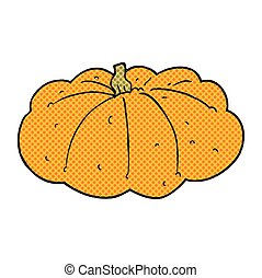cartoon squash - freehand drawn cartoon squash