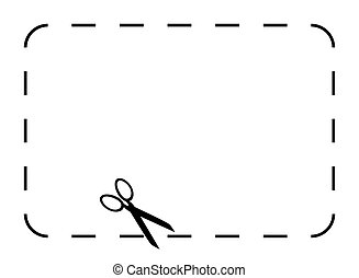 Blank coupon or voucher border isolated on white background...