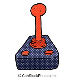 cartoon joystick - freehand drawn cartoon joystick